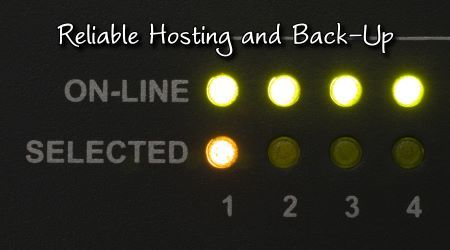 Reliable Hosting and Back-Up